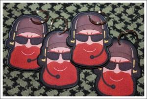 Llaveros personalizados borde bordado (2)