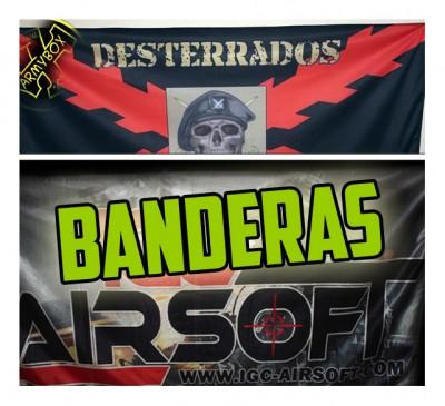 banderas personalizadas airsoft