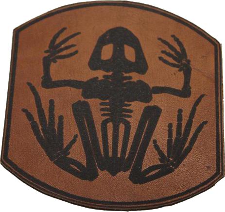 Parche Navy Seal cuero tallado